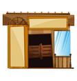 doors on building in western style vector image vector image