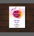 poster template for summer party vector image vector image