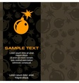 Bomb background vector image vector image
