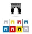 Triumphal Arch in Paris icon vector image