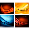 set of neon abstact backgrounds vector image vector image
