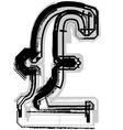 Grunge symbol vector image