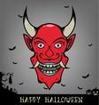 Halloween red smile evil head vector image