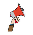 hand holding speaker loud marketing business vector image