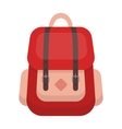 Hipster backpack icon in cartoon style isolated on vector image