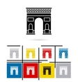Triumphal Arch in Paris icon vector image