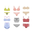 Underwear silhouette isolated set vector image