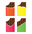 dark chocolate bars vector image vector image
