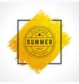summer sale banner online shopping on grunge brush vector image vector image