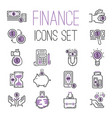 money finanse banking icons business safety online vector image