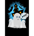 Halloween Poster with Ghosts vector image