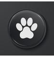 modern black glass circle icon vector image vector image