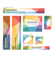 8 standard size colorful banner templates vector image