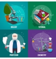 Chemistry Lab Icon Set vector image vector image