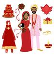 Indian wedding set vector image