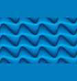 abstract blue water wave seamless pattern vector image