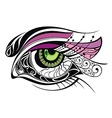 Beautiful eye vector image