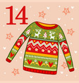 christmas sweater with ornament vector image