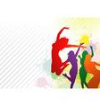 Dancing Colorful Girls vector image