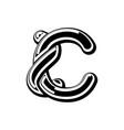 letter c celtic font norse medieval ornament abc vector image