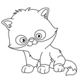 outlined persian kitten vector image