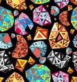 Seamless beautiful graphic pattern multicolored vector image