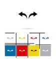 Undo and redo arrows icon vector image