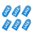 Blue Price Tags vector image vector image
