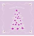 Christmas tree decorated with flowers vector image vector image