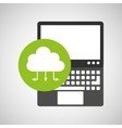 laptop technology cloud computing icon vector image