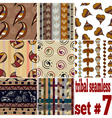 Set of seamless textures of traditional vector image vector image