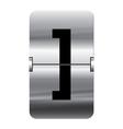 Alphabet silver flipboard letters square brackets vector image vector image