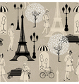Seamless pattern - Effel Tower street lights old f vector image vector image