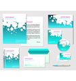 corporate identity template company style for vector image