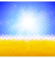 Shiny sun background made of arrow pattern vector image