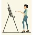 Artist drawing vector image
