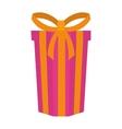 big gift box present ribbon vector image