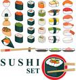 Big Sushi Set vector image