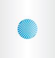 business logo blue globe vector image