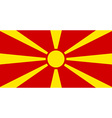 Flag of Macedonia vector image