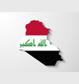 Iraq map with shadow effect presentation vector image