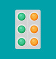 pills flat icon vector image