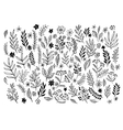 Set of sketches and line doodles hand drawn vector image