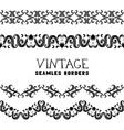 Vintage semless borders vector image