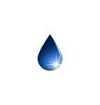 Water drop icon fresh aqua logo isolated mockup vector image