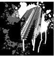 skyscraper black and white graffiti vector image vector image