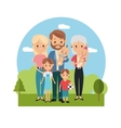 Family relationship avatar and generation design vector image