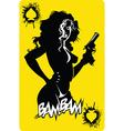 Dangerous queen of spades vector image