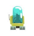 cartoon robot crawler character with glass blue vector image