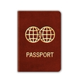 Realistic Passport Isolated On White vector image vector image